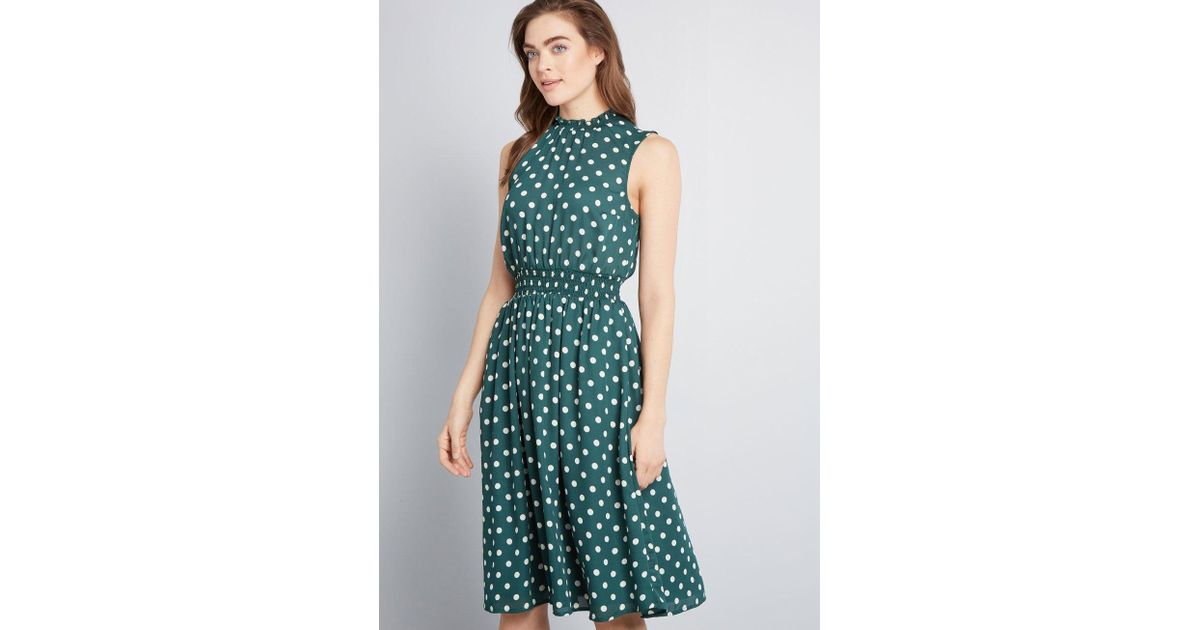 79ccb06a4b441 ModCloth Savor The Occasion Woven A-line Dress in Green - Save 39% - Lyst