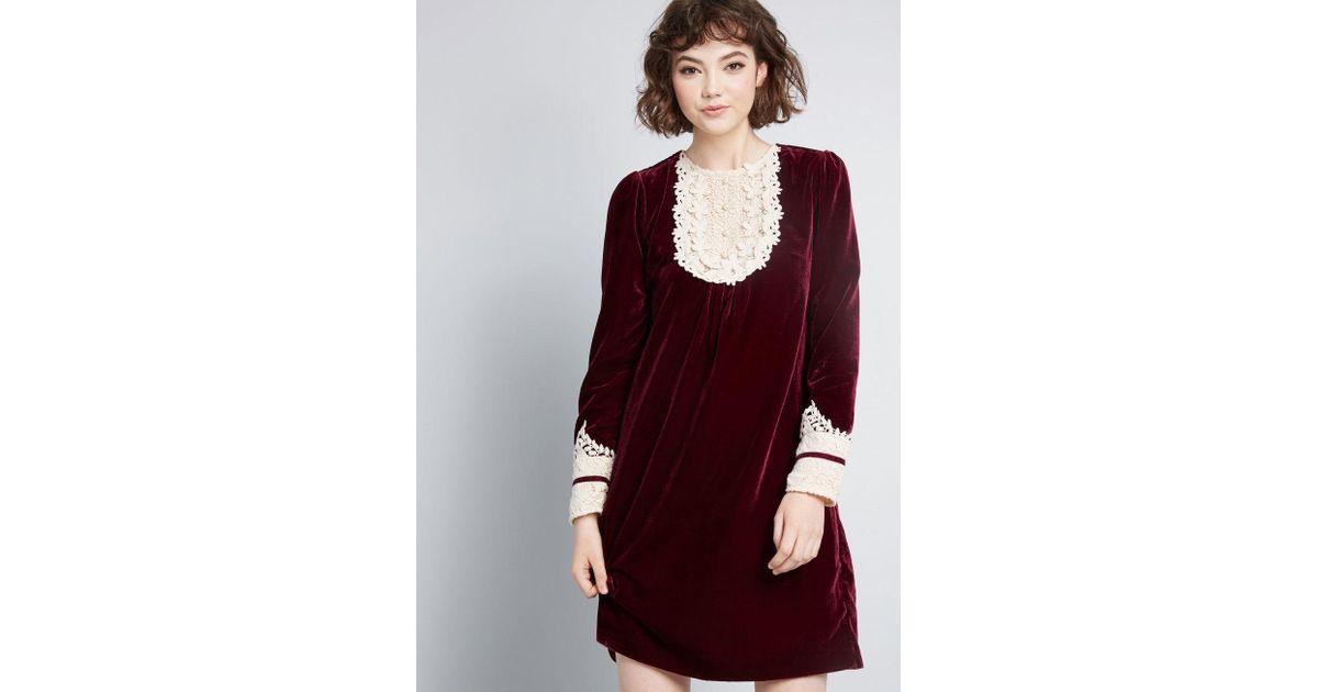 4fc79ac97c8aa Anna Sui Modcloth X Charisma Calls Velvet Dress in Purple - Lyst