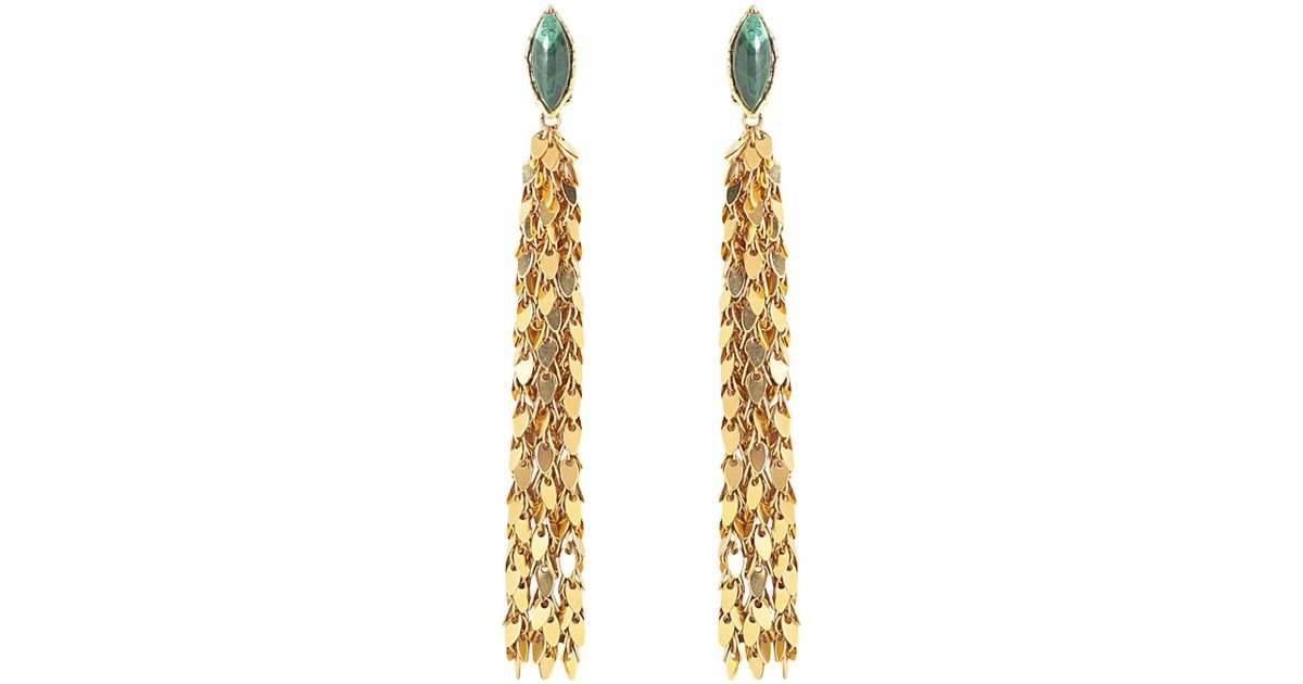 Leaves Earrings in Gold-Plated Brass with Black Onyx Sylvia Toledano bxpYCLm