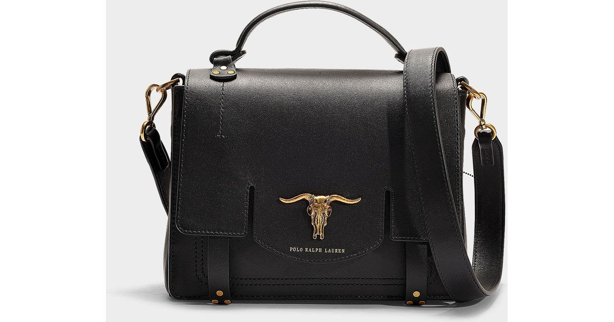 Black Lyst Top Polo Schooly Bag Small Handle Lauren Ralph In xrrnH6