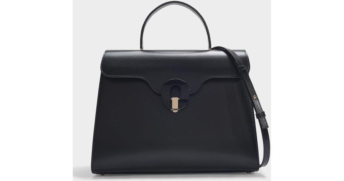 4d75df73266 Lyst - Sac à main musa en cuir de veau noir Giorgio Armani en coloris Noir