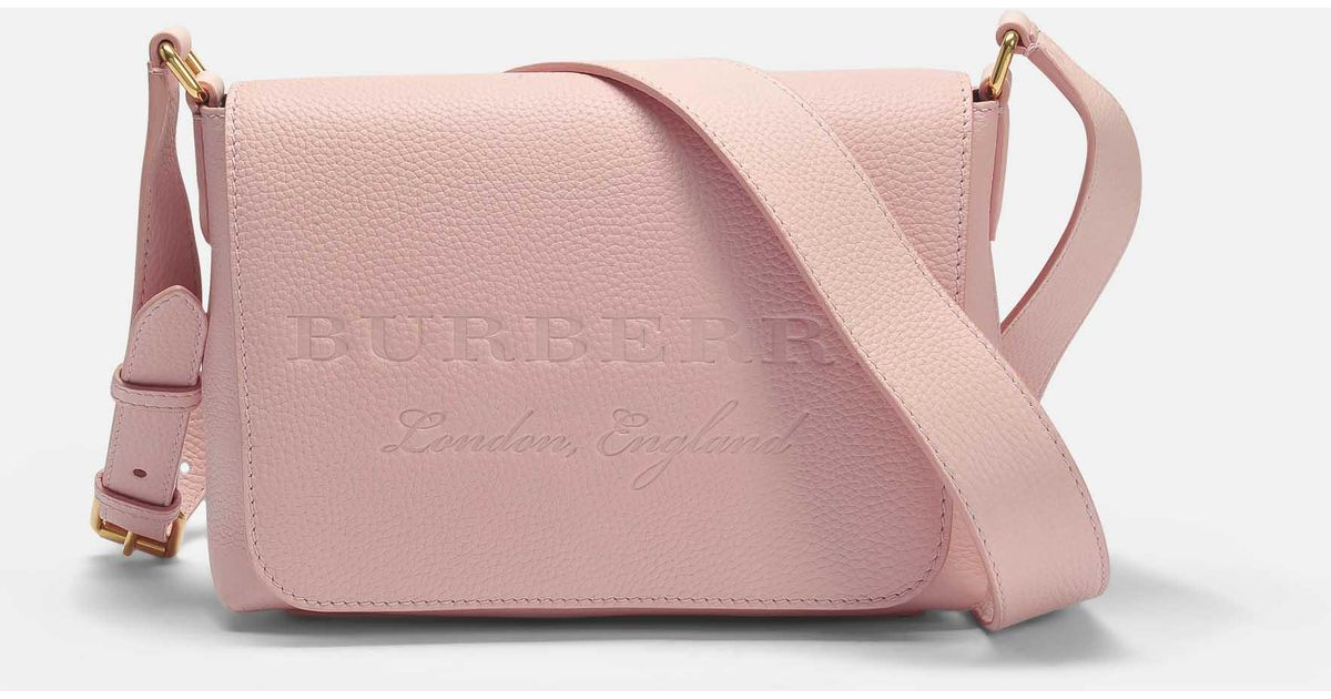 e34c89f6374 Burberry Small Burleigh Crossbody Bag In Pale Ash Rose Grained Calfskin in  Pink - Lyst