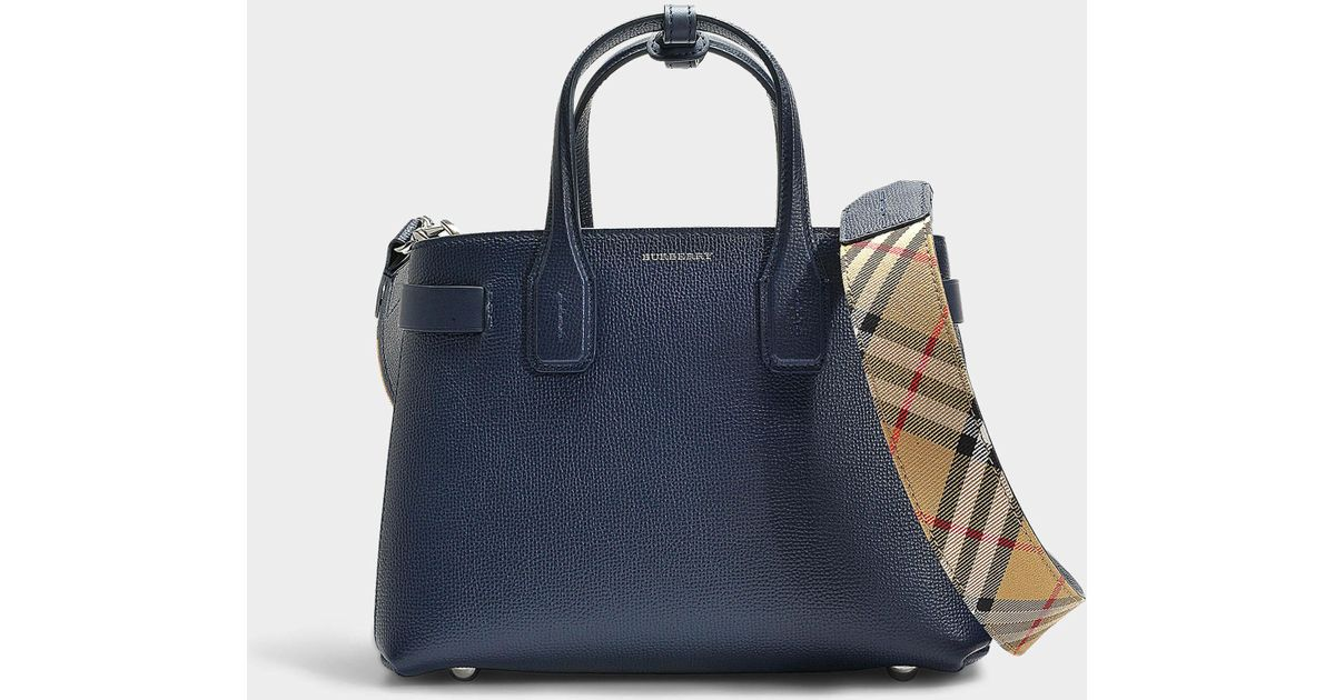 Lyst - Burberry The Small Banner Bag In Royal Blue Calfskin in Blue 447b9bf679e77