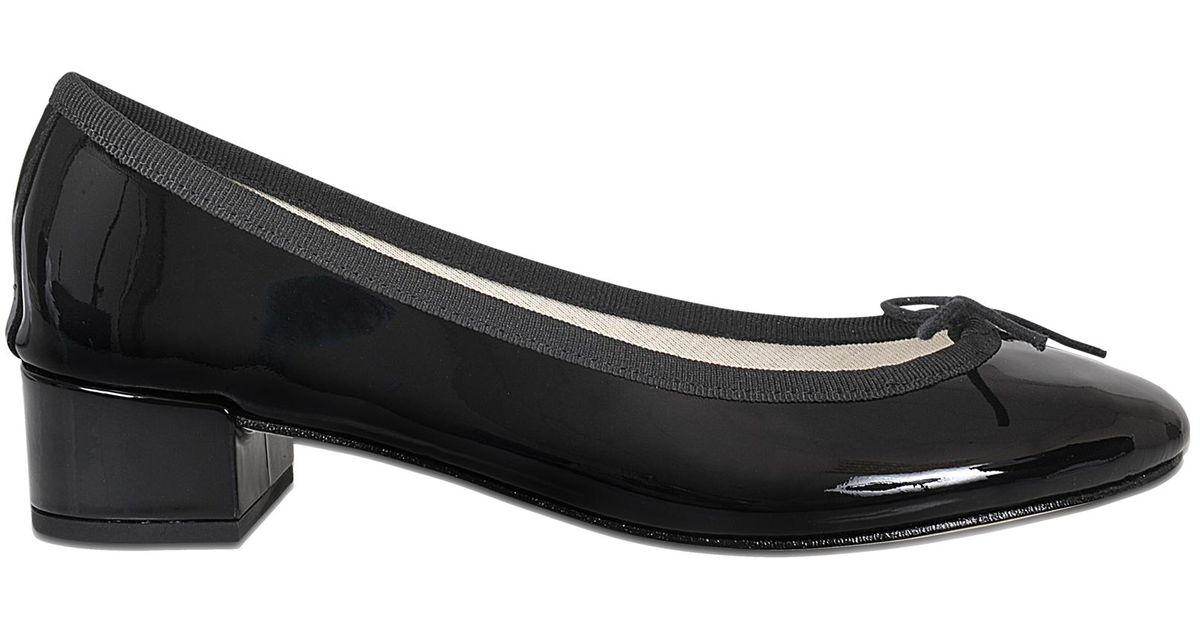 Outlet Shop Camille Patent Mid-Height Ballerinas in Black Leather Repetto Fashionable Outlet Locations For Sale Excellent Online Discount Ebay B3zkUVO