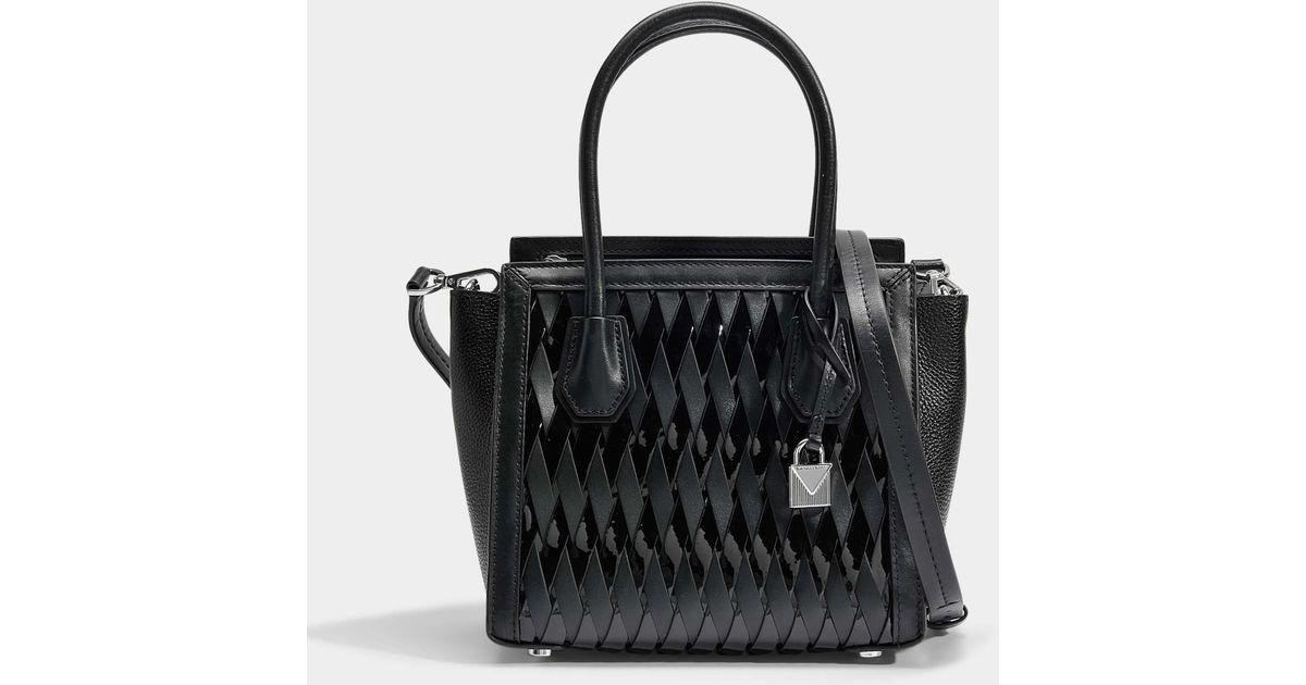 768177a60b MICHAEL Michael Kors Mercer Studio Medium Messenger Bag In Black Smooth  Weave in Black - Lyst