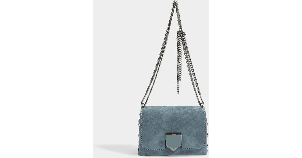 23121b284ca0 Jimmy Choo Lockett Petite Bag in Blue - Lyst