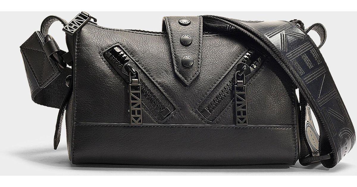 Lyst - Sac à main porté epaule mini kalifornia en cuir de veau noir KENZO  en coloris Noir 7962ffb5c94