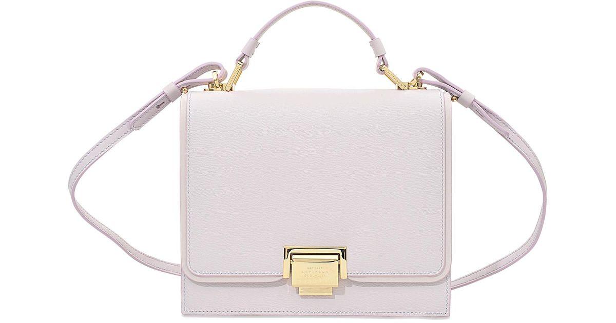 Smythson - Pink Grosvenor Small Crossbody Bag - Lyst 83e24a2610dd2