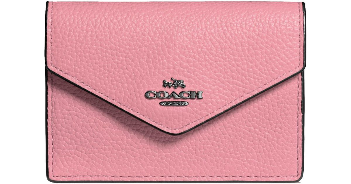 aeed0452661c Coach Envelope Card Case in Pink - Lyst