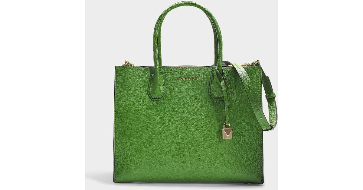 afba53f0853bf3 MICHAEL Michael Kors Mercer Large Convertible Tote In Green Calfskin in  Green - Lyst