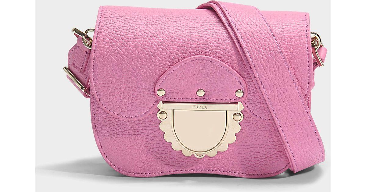 849b184826 Lyst - Mini sac ducale crossbody en cuir de veau rose Furla en coloris Rose