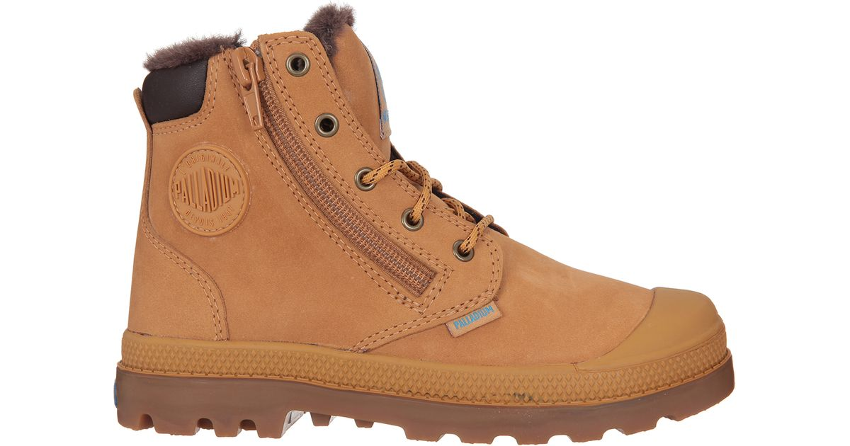 palladium boots in brown for lyst
