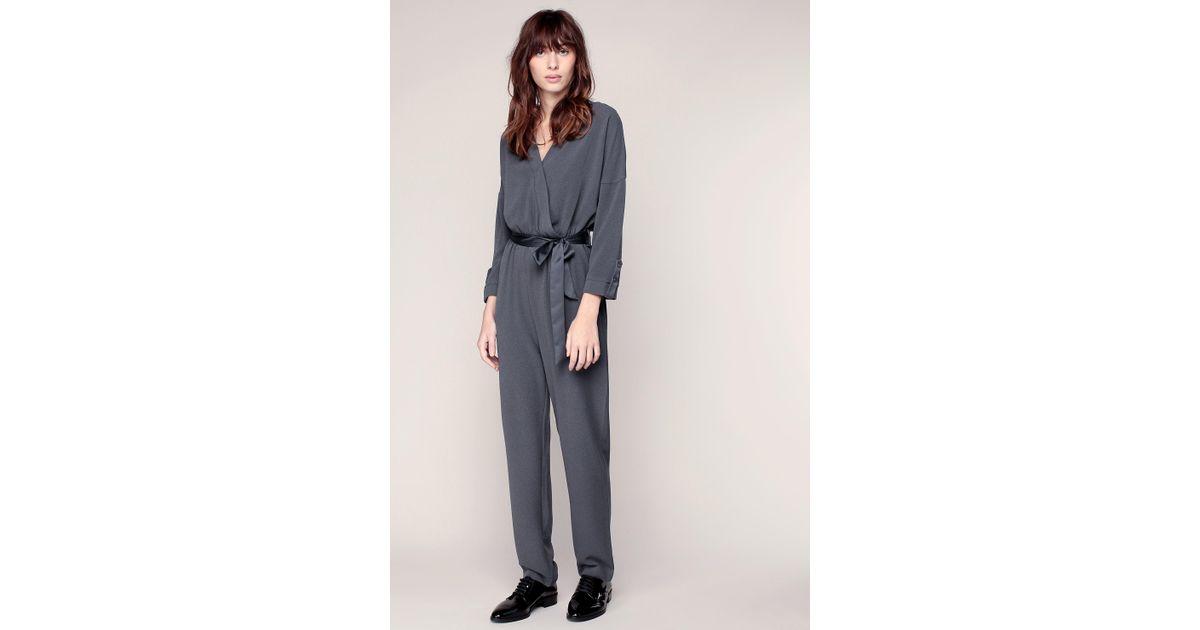 lyst vero moda jumpsuit in grey. Black Bedroom Furniture Sets. Home Design Ideas