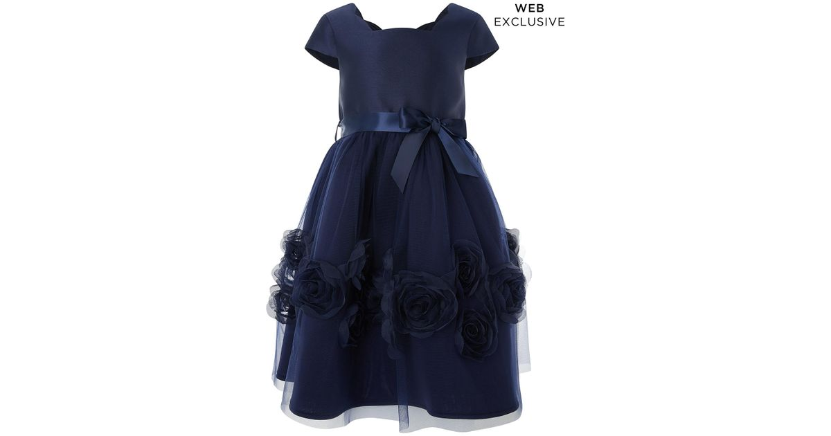 1adc1dc50f40 Monsoon Peony Cascade Dress in Blue - Lyst