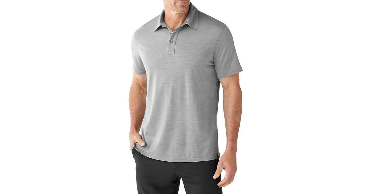 17dc780e Lyst - Smartwool Merino 150 Pattern Polo in Gray for Men