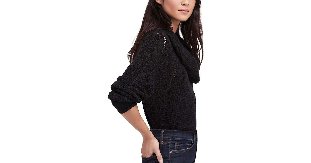 Lyst Free People By Your Side Sweater In Black