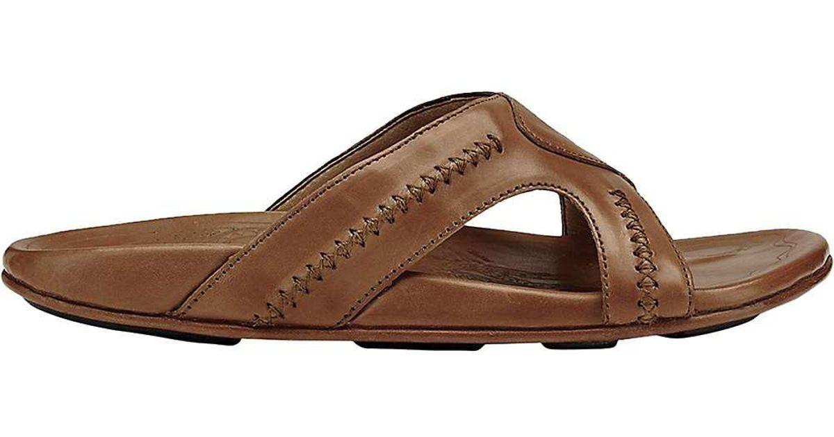 5a4e62d795e68 Lyst - Olukai Mea Ola Slide Sandal in Brown for Men