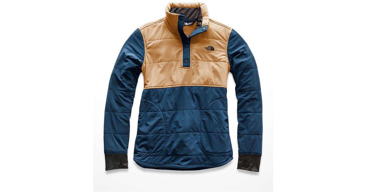 12c209963350 Lyst - The North Face Mountain Sweatshirt 1 4 Snap Jacket in Blue