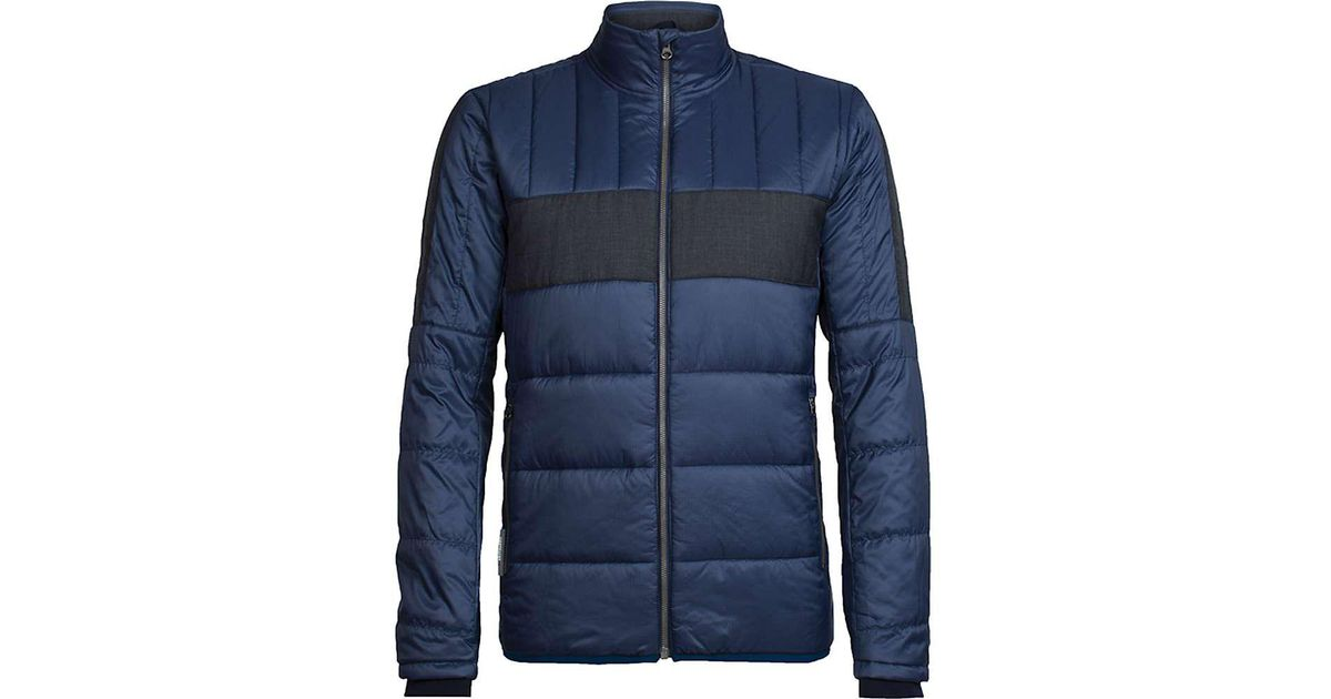 b5277d99ef Icebreaker Stratus X Jacket in Blue for Men - Lyst