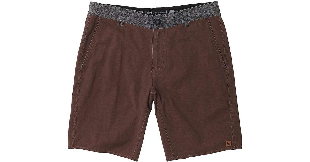 Lyst - Hippy Tree Bedrock Hybrid Short in Brown for Men 362bf4d8499d