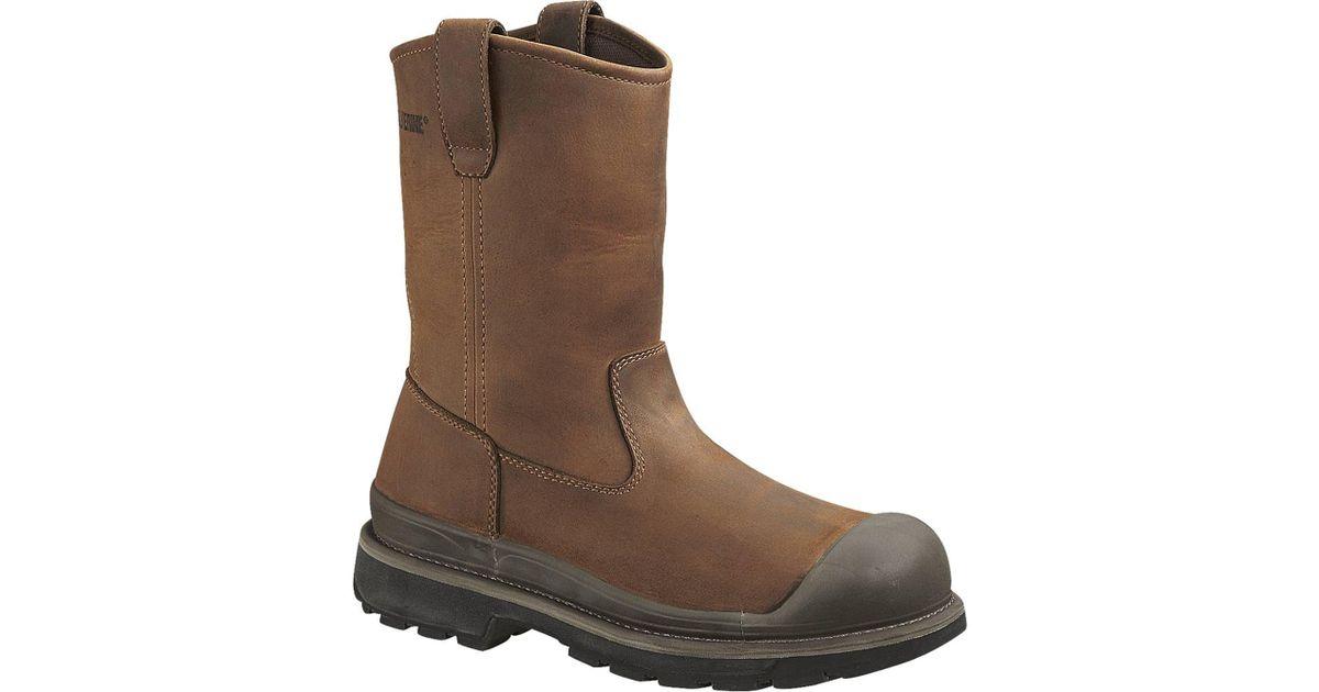 6269d7693cd Wolverine - Brown Crawford Waterproof Wellington Steel Toe Boot for Men -  Lyst