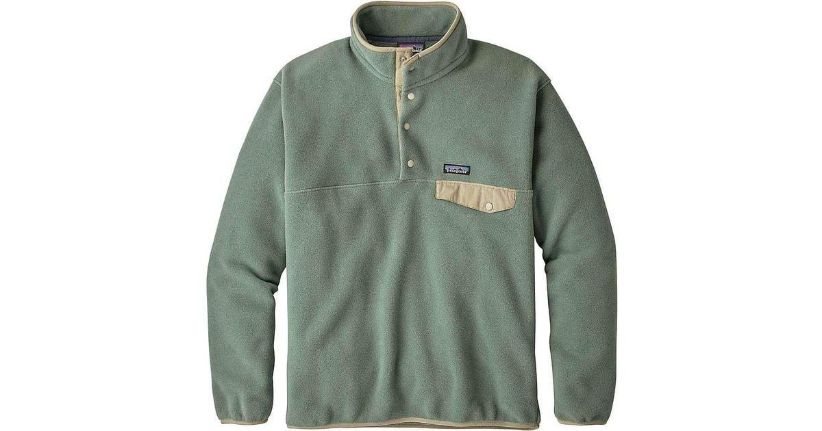 ddabd319d5ebf Patagonia Lightweight Synchilla Snap-t Pullover in Green for Men - Lyst