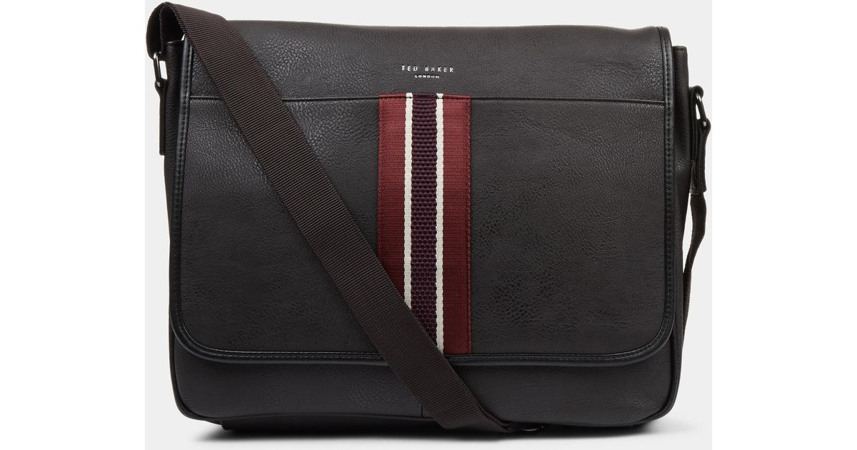 Lyst - Ted Baker Kingcol Chocolate Messenger Bag in Brown for Men a4f79b2f87735