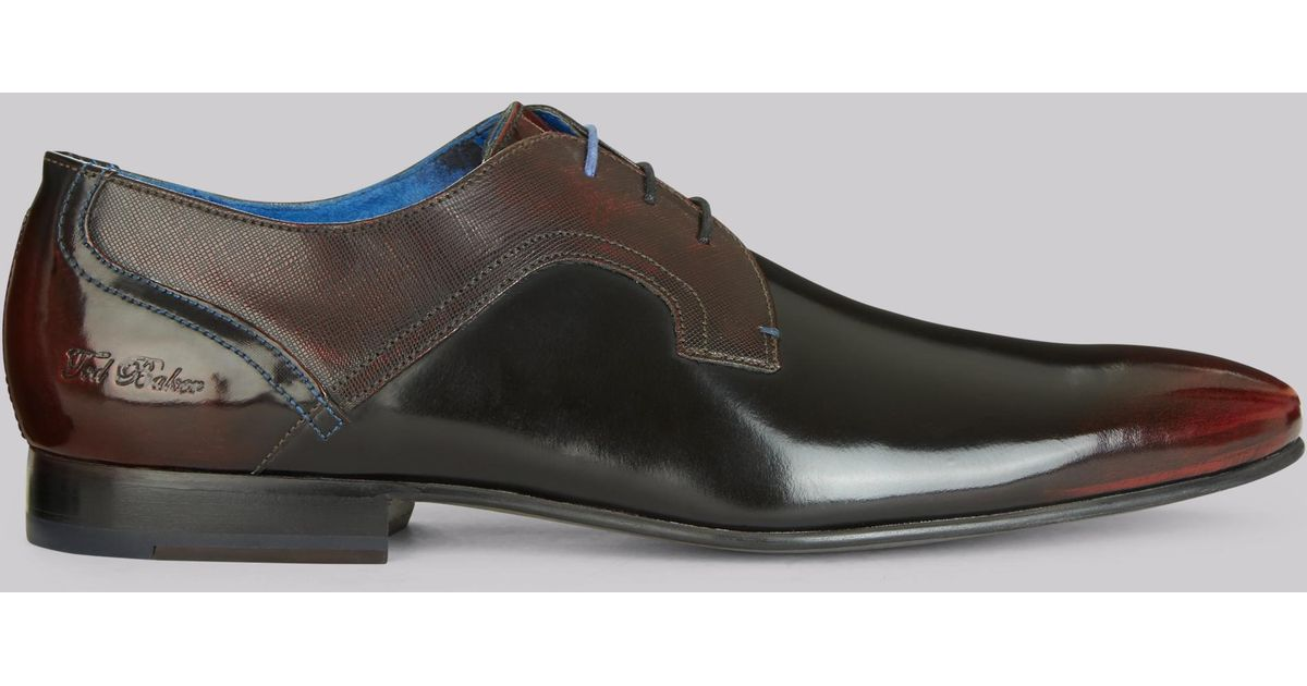 d3ca8fc3a0314f ... Ted Baker - Multicolor City Pelton High Shine Derby Shoe for Men - Lyst  great fit ...