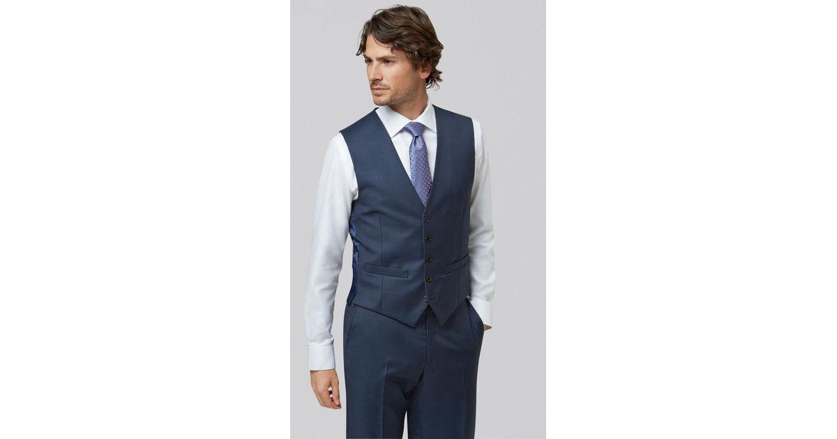 0ae254a272b Lyst - Lanificio F.lli Cerruti Dal 1881 Cloth Tailored Fit Indigo Waistcoat  in Blue for Men