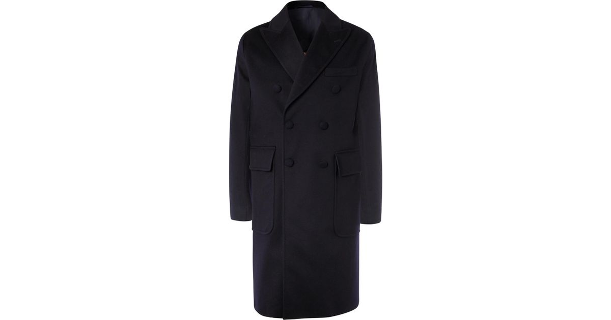 Breasted Men Generale Officine Lyst For In Storm Wool Double Blue Overcoat System 6PtZxwqnZ