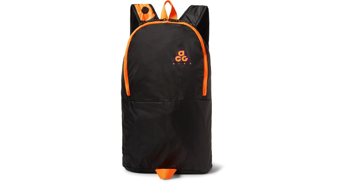 784af95b6366 Lyst - Nike Acg Packable Ripstop Backpack in Black for Men - Save 40%