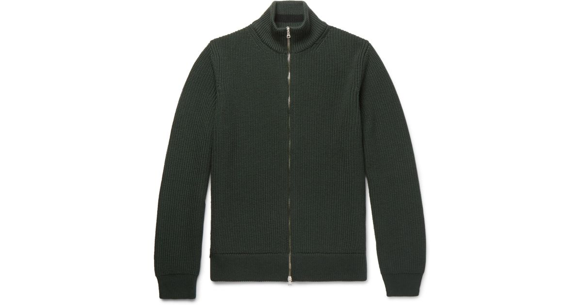 From China Ribbed Merino Wool Zip-up Cardigan Mr P. Discount Best Sale kMpBHYG