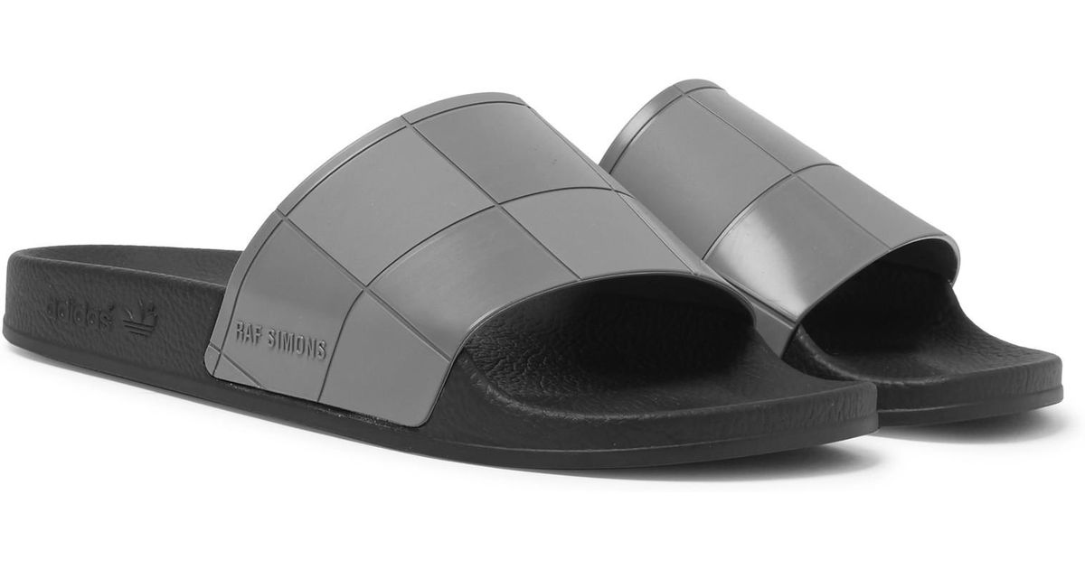 f21970d57 Lyst - Raf Simons + Adidas Originals Adilette Rubber Slides in Gray for Men