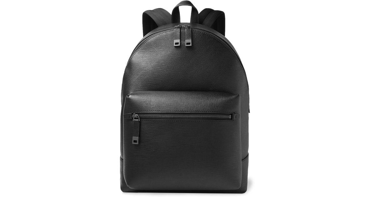 9df347258 BOSS Cross-grain Leather Backpack in Black for Men - Lyst