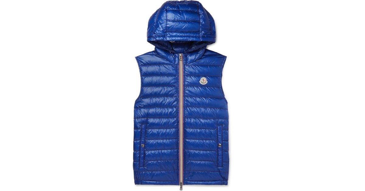 c1110e3ec8a2 Moncler Gien Quilted Shell Hooded Down Gilet in Blue for Men - Lyst