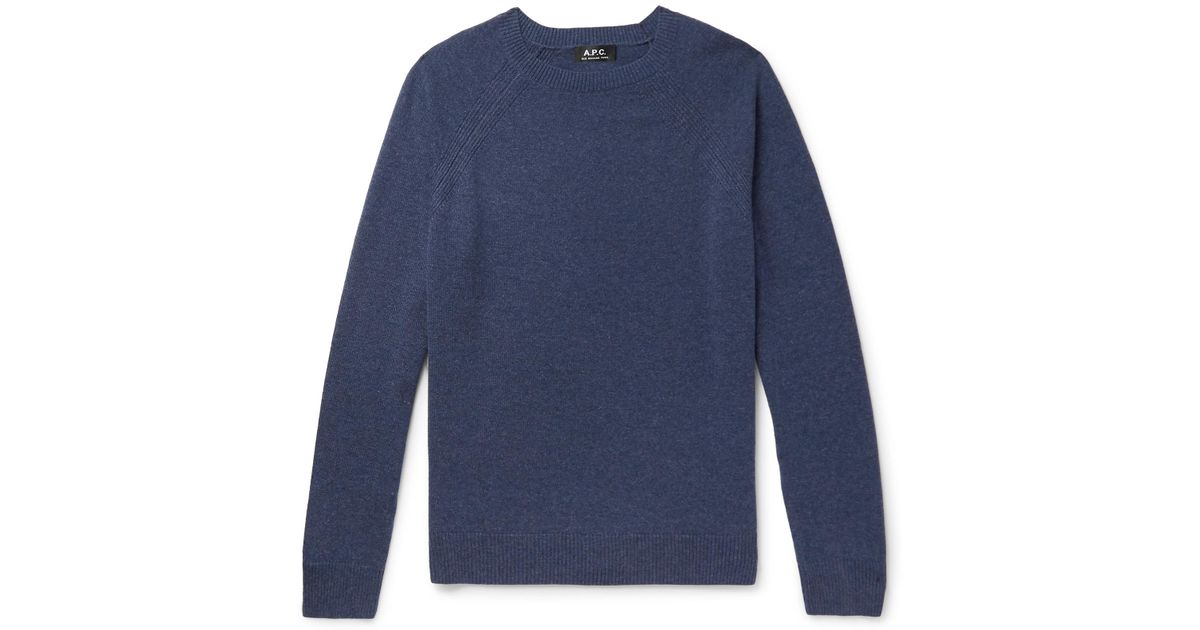 Blue p Mélange In Cashmere For A c Lyst Sweater Men pwq0Ax5