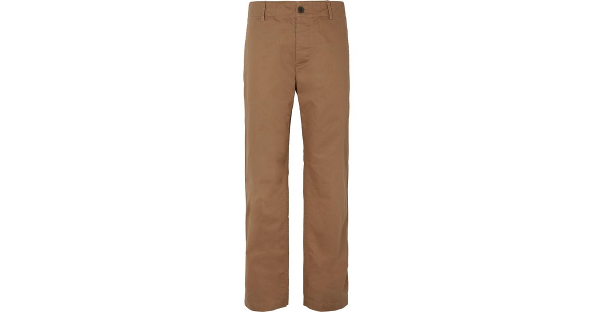 Wide Range Of Online Wide-leg Herringbone Cotton Chinos Mr P. Top Quality Sale Newest uDAeHZW2