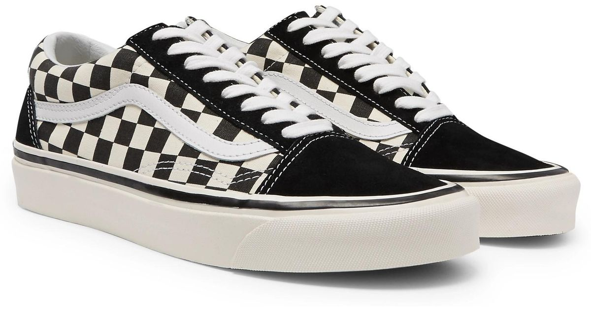 f0f4ad21c887 Vans Anaheim Factory Old Skool 36 Dx Leather-trimmed Canvas And Suede  Sneakers in Black for Men - Lyst