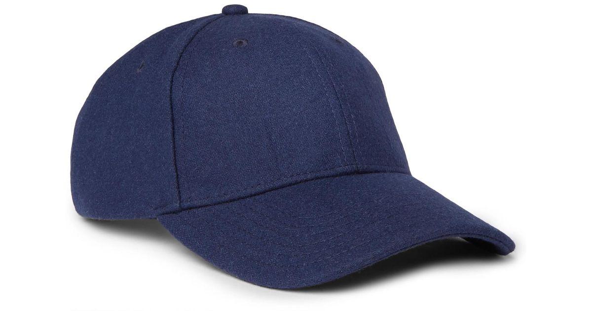 Wool-blend Felt Baseball Cap Nn.07 EM70fXDY