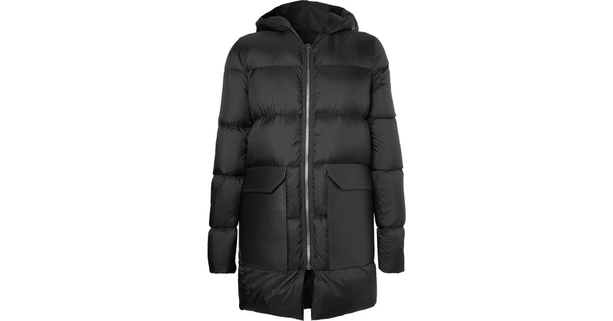 Quilted Shell Down Jacket - Black Rick Owens Sale Visa Payment Outlet Countdown Package For Nice Discount Factory Outlet Sale Countdown Package 04KEaP4oC