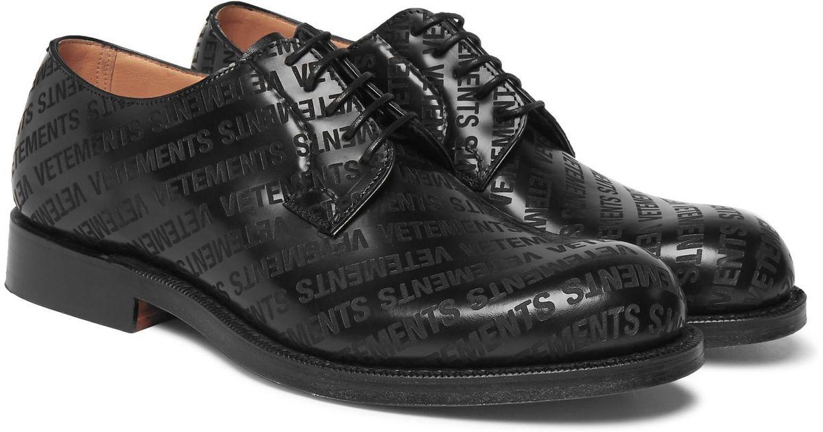 + Churchs Logo-embossed Leather Derby Shoes - BlackVETEMENTS Fc9E3Kji6R