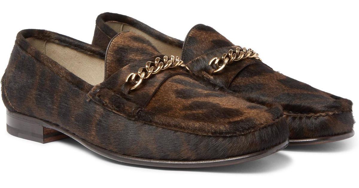 Tom Ford Leopard print loafers pQkND