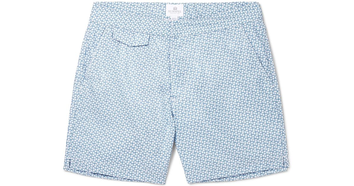 HARTFORD Mid-length Swim Shorts - Sky blue wsqaJk