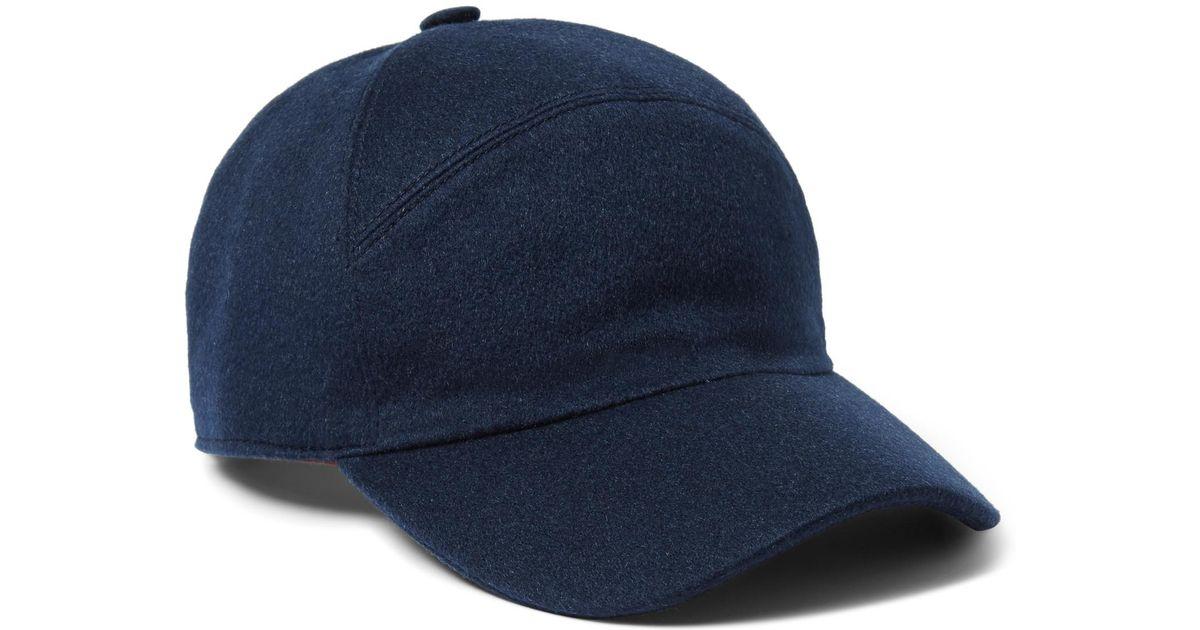 b82de672700 Loro Piana Cashmere Baseball Cap in Blue for Men - Lyst