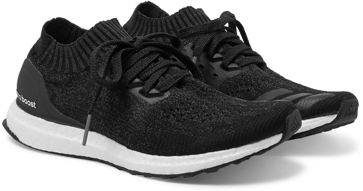 2dc749e66cd55 adidas Originals Ultra Boost Uncaged Mélange Primeknit Sneakers in Black  for Men - Lyst