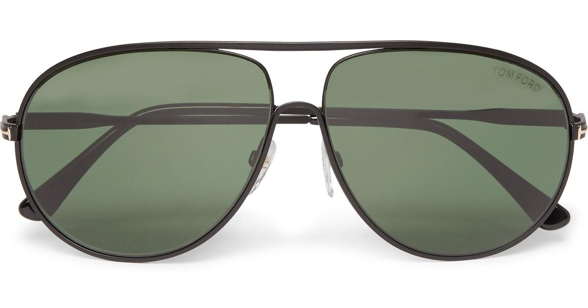 21aedb35a8 Lyst - Tom Ford Cliff Aviator-style Metal Polarised Sunglasses in Black for  Men