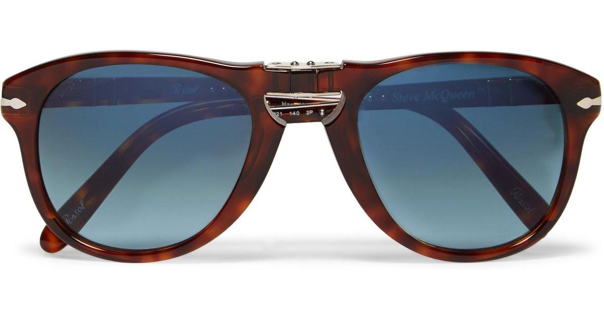 48901276d9f Lyst - Persol Steve Mcqueen Folding D-frame Tortoiseshell Acetate Polarised  Sunglasses in Brown for Men