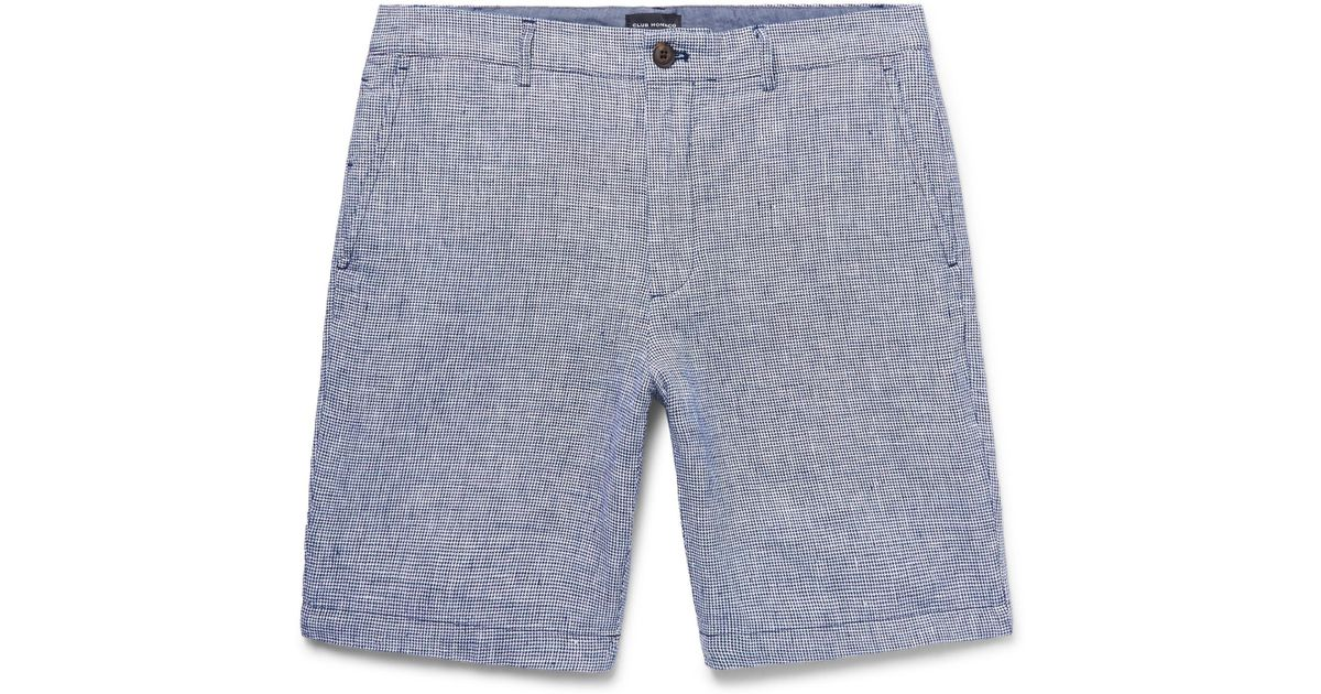 Baxter Slim-fit Striped Linen Shorts Club Monaco Enock6uMYt