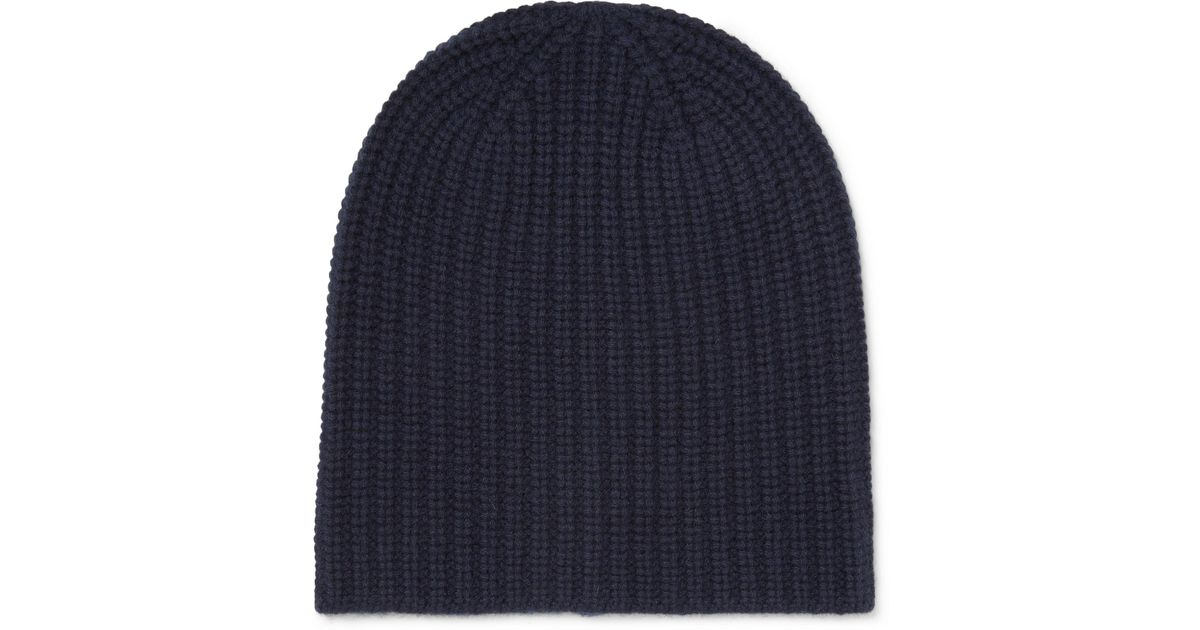 Alex Mill Ribbed Cashmere Beanie in Blue for Men - Save 49.504950495049506%  - Lyst 7d2807cf965d