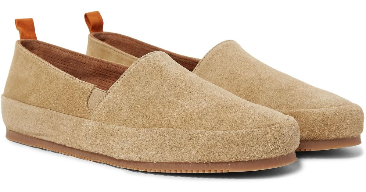 Collapsible-heel Suede Loafers Mulo SJVMd